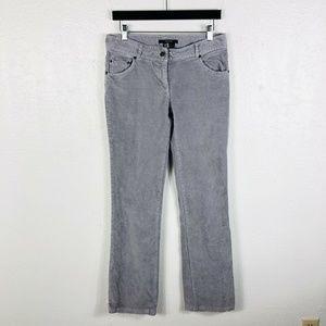 Zara Basic Size 8 Light Gray Corduroy Pants